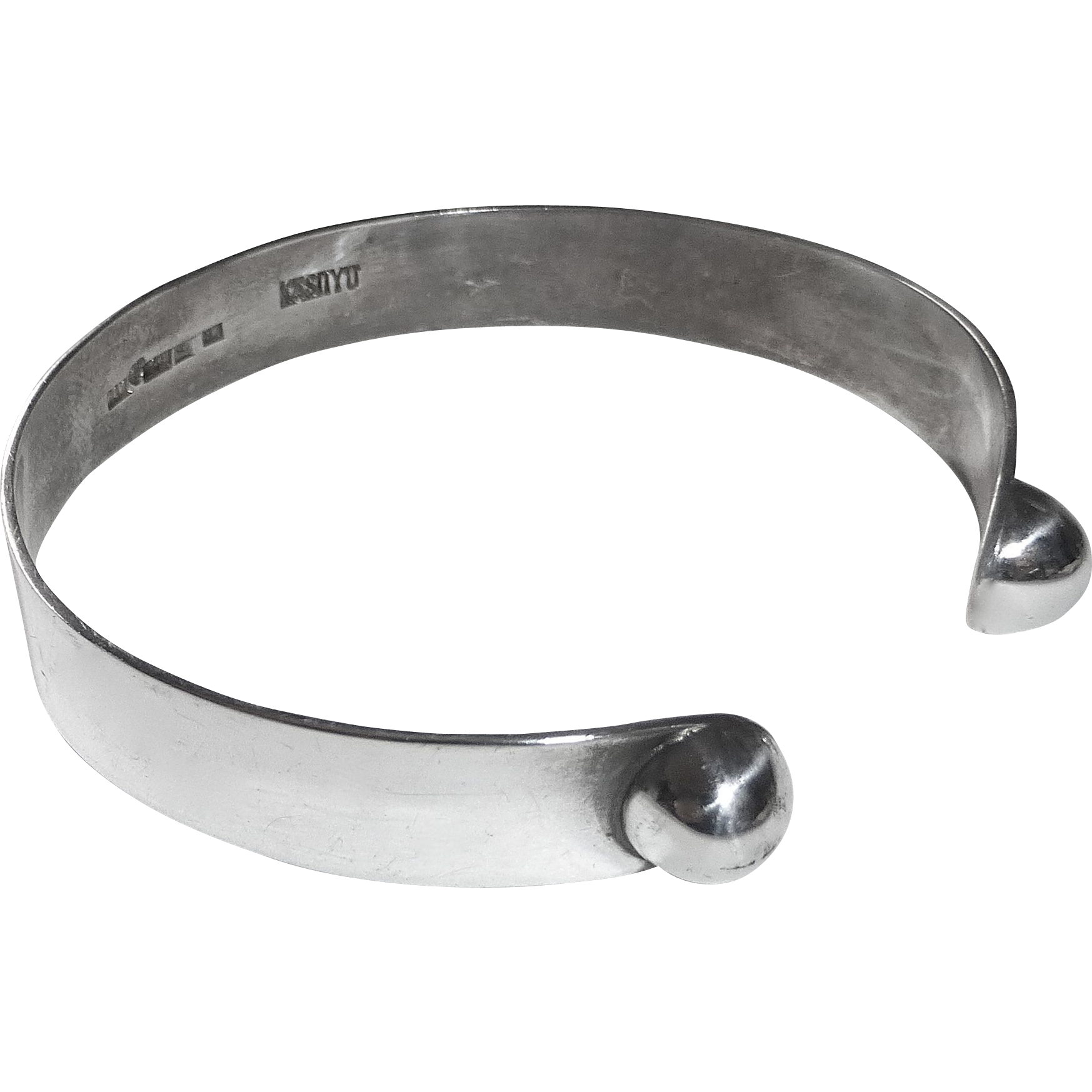 Mid-Century Modern Finnish Silver Cuff Bracelet