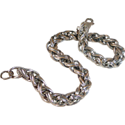 Sterling Woven Tubular Chain Bracelet