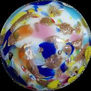 Vibrant Vintage Splatter Glass Button