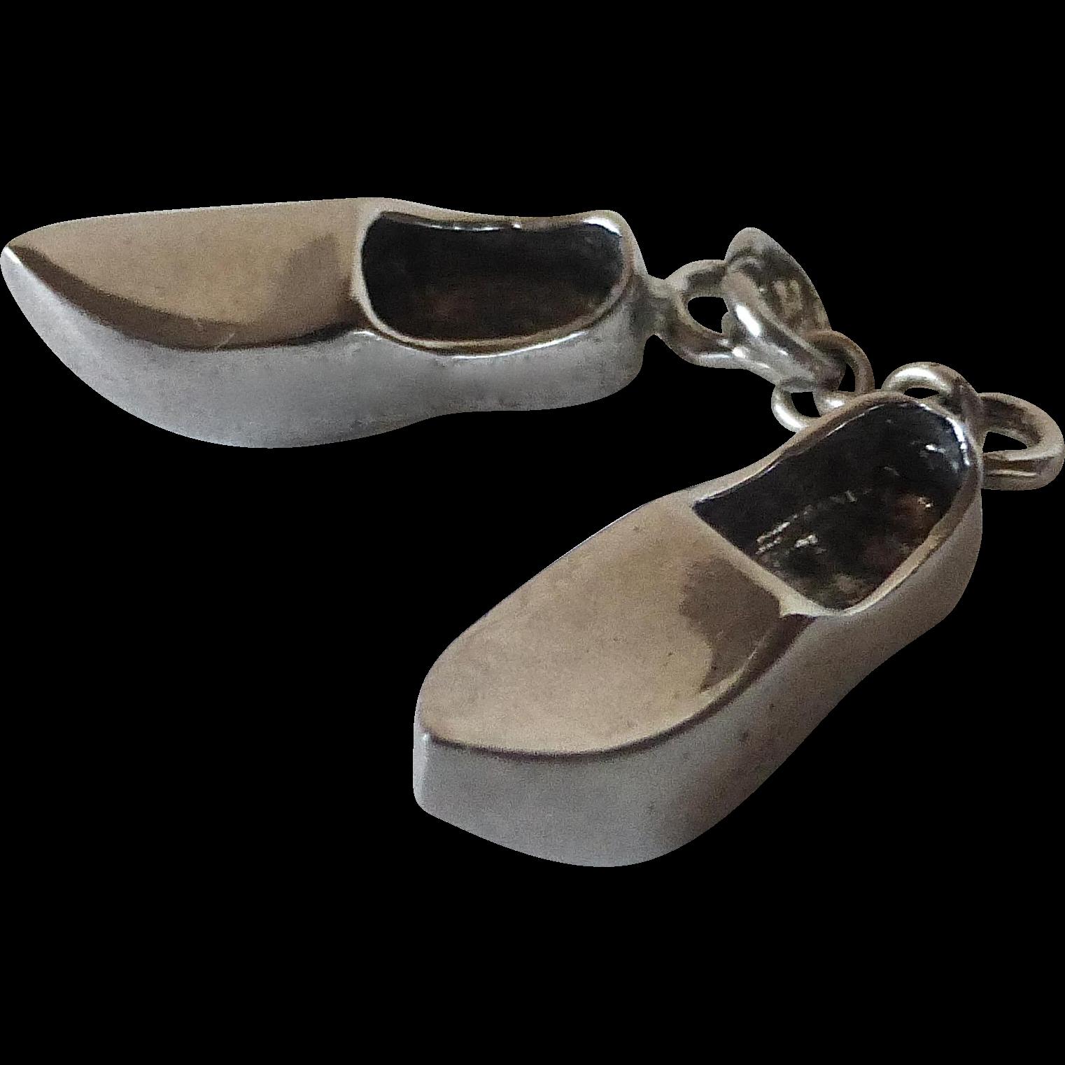 Sterling Dutch Clog Shoes Charm