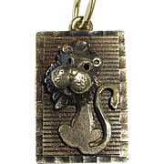 10k Yellow Gold Whimsical Lion Charm