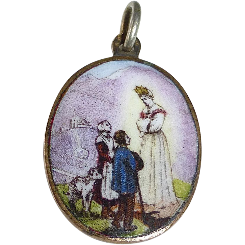 Scenic Enamel & Brass Charm Woman~Boy~Girl~Dog