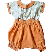 Antique Edwardian Girl's Cotton Romper