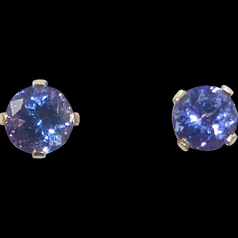 14k Tanzanite Post Earrings