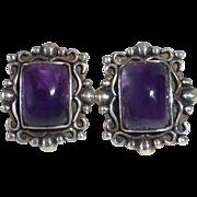 Sterling & Amethyst Post Earrings