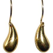 18k Tiffany Teardrop Earrings Elsa Peretti