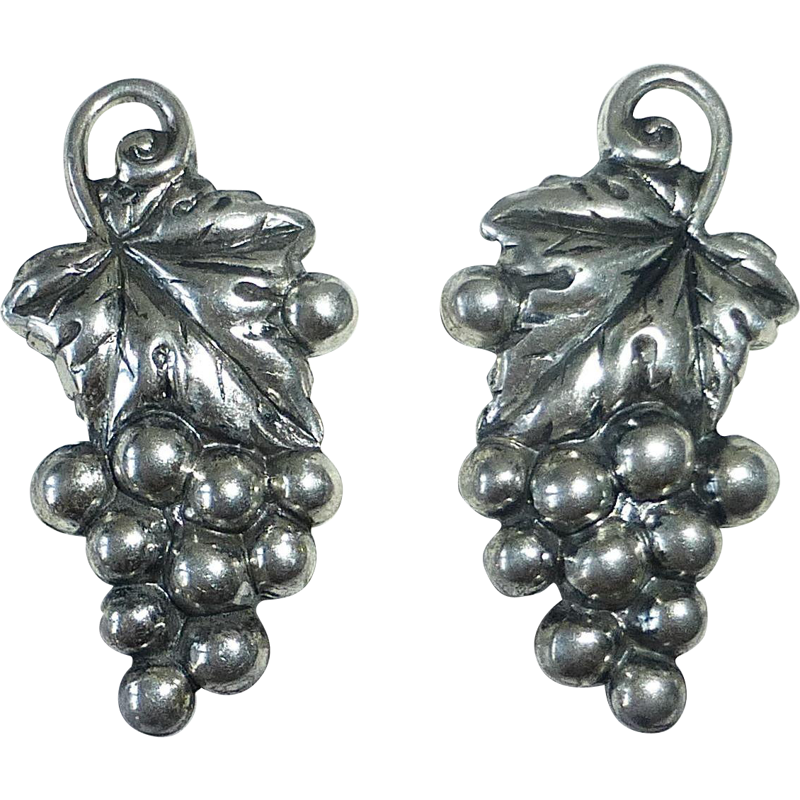 Danecraft Sterling Grape Cluster Earrings