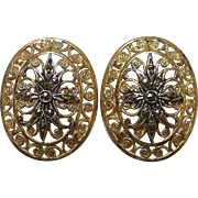 Alice Caviness Sterling & Vermeil Filigree Earrings