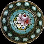 Italian Floral Diminutive Floral Mosaic Pin