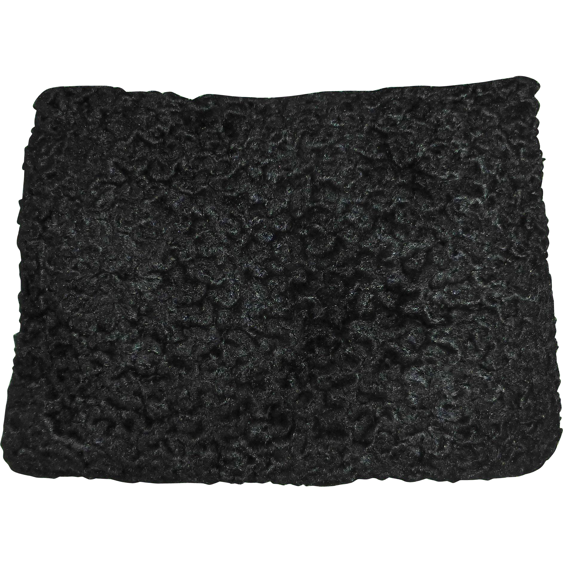 Black Faux Persian Lamb Fur Muff