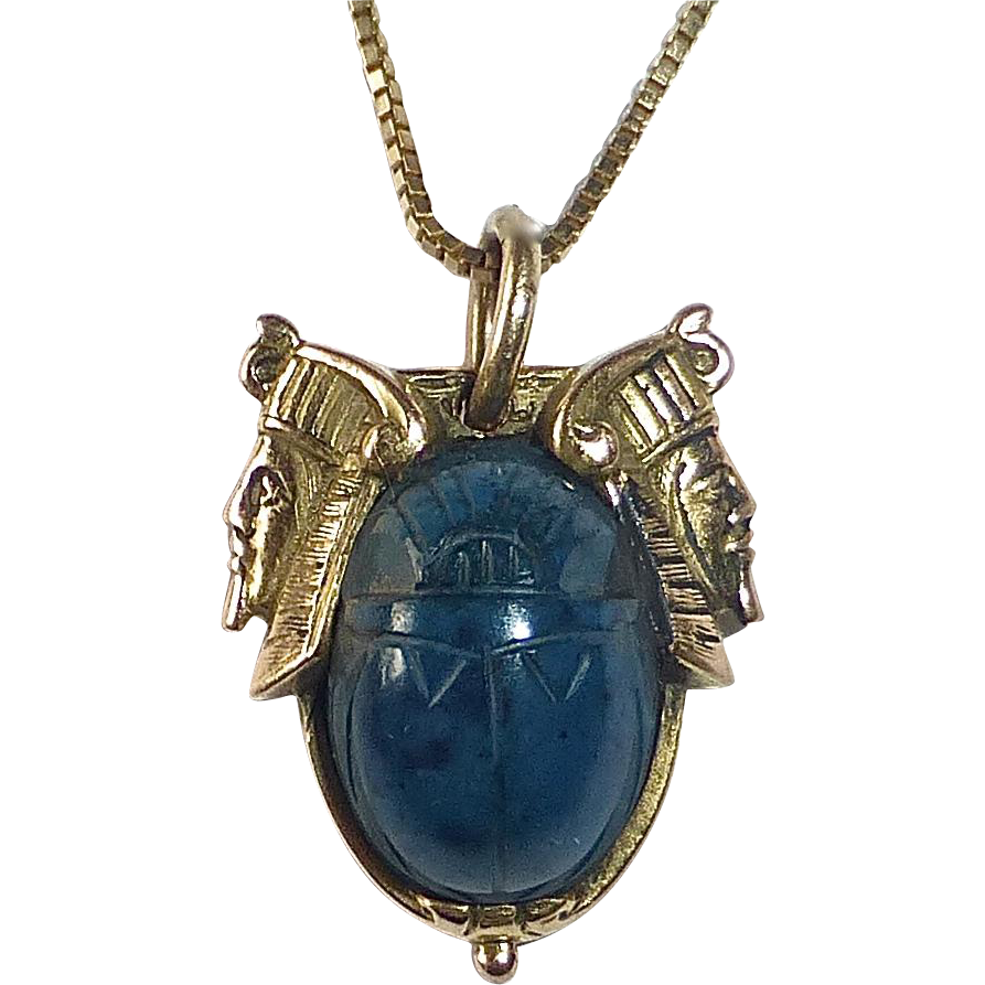egyptian scarab necklace - photo #10