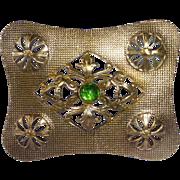 Gilt Brass Art Deco Sash Ornament Brooch