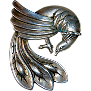 Viking Craft Sterling Exotic Bird Pin