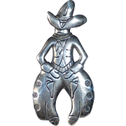 Bell Sterling Rootin' Tootin' Cowboy Pin