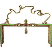 Austro Hungarian Jeweled & Enameled Purse Frame