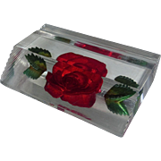 Reverse Carved Lucite Business Card Holder or Photo Display