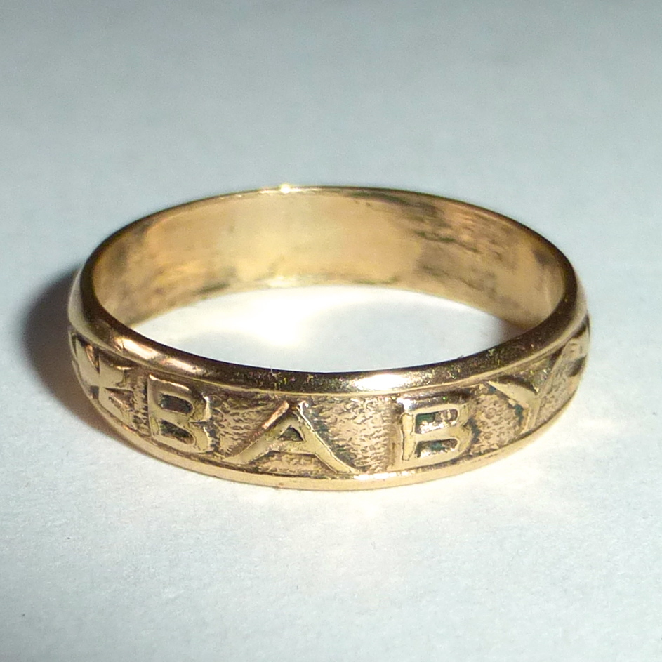antique 10k gold baby ring sold on ruby