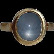 14k Natural Blue Star Sapphire Ring