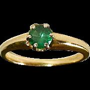 14k Tsavorite Doublet Green Garnet Ring