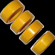 Set of 4 Creamed Corn Bakelite Napkin Rings