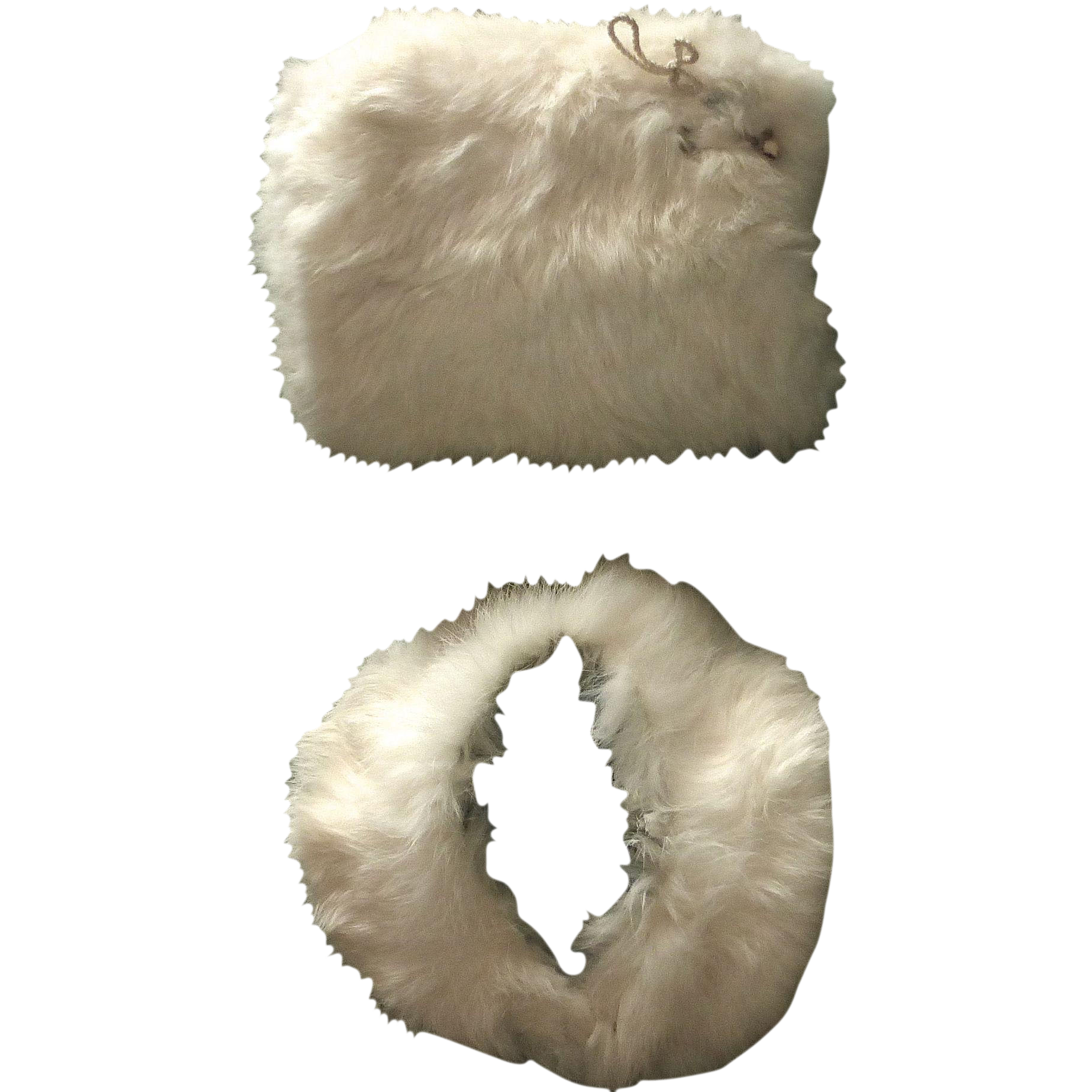 Vintage Child's Rabbit Fur Muff & Collar