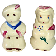Shawnee Pottery Ceramic Salt & Pepper Sailor Boy & Girlfriend