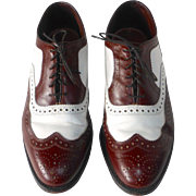 Allen Edmonds All Leather Mens Wing Tip Spectator Shoes - Red Tag Sale Item