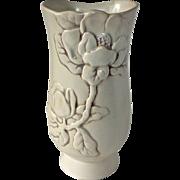 Redwing Magnolia Flower Cream & Brown Rub Vase