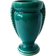Art Deco Teal Blue USA Small Vase