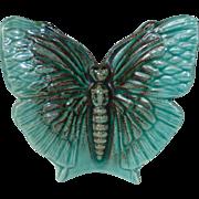 Butterfly Glazed Pottery Wall Pocket
