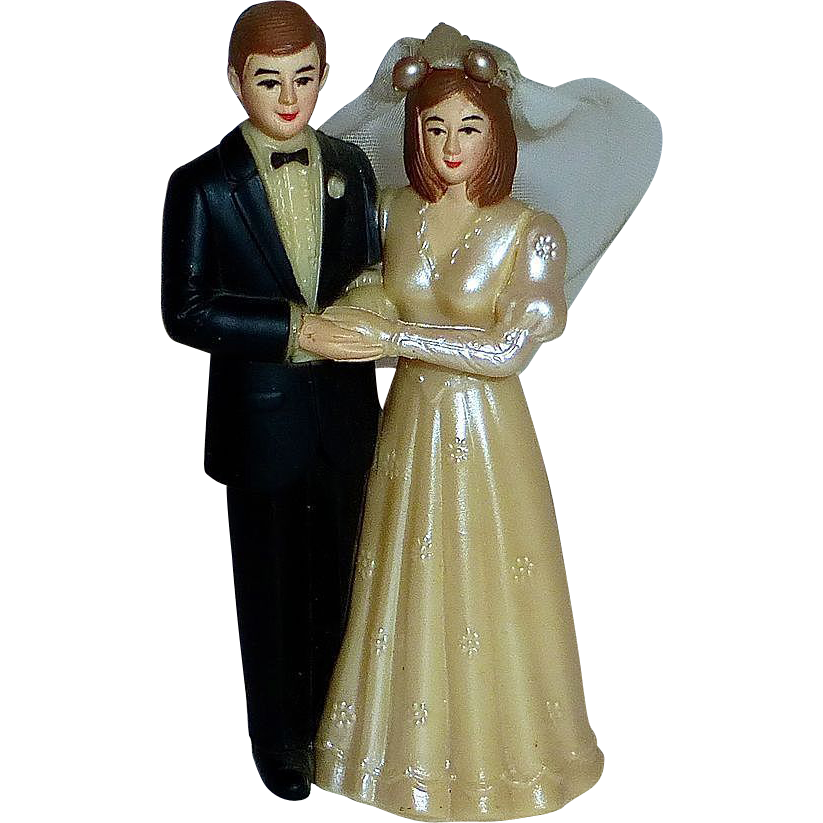 1940s Vintage Wedding Topper