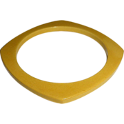 Light Butterscotch Squared Bangle Bracelet