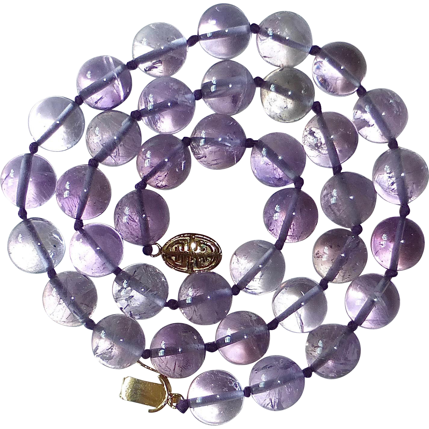 Lavender Genuine Amethyst Bead Necklace