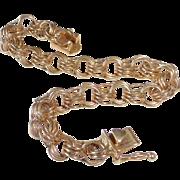 14k Classic Triple Ring Starter Charm Bracelet