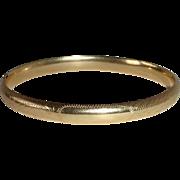 14k Engraved Hinged Bangle Bracelet