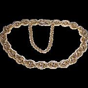 14k Classic Oval Link Yellow Gold Bracelet