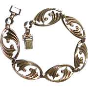14k Over Sterling Art Deco Symmetalic Bracelet