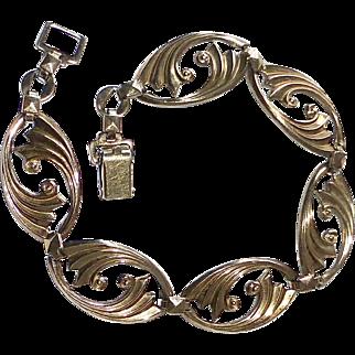 14k Over Sterling Art Deco Symmetalic Bracelet