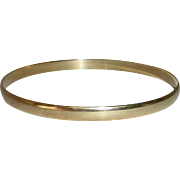 9k Yellow Gold English Bangle Bracelet