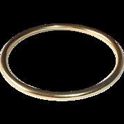 9k Yellow Gold English Bangle Bracelet