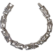 Coro Silver Plated Bracelet Cherries & Leaves