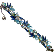 Juliana D&E Sparkling Rhinestone Bracelet Shades of Blue