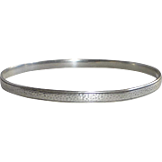 Sterling Lightly hammered Bangle Bracelet