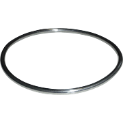 Tubular Sterling Plain Bangle Bracelet