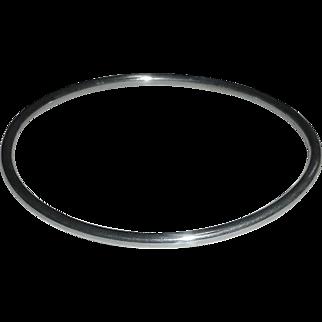 Tubular Sterling Plain Bangle Bracelet