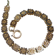 Victorian Rose Gold Filled Double Sided Bookchain Bracelet