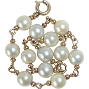 Gold Filled Cultured Pearl Bracelet