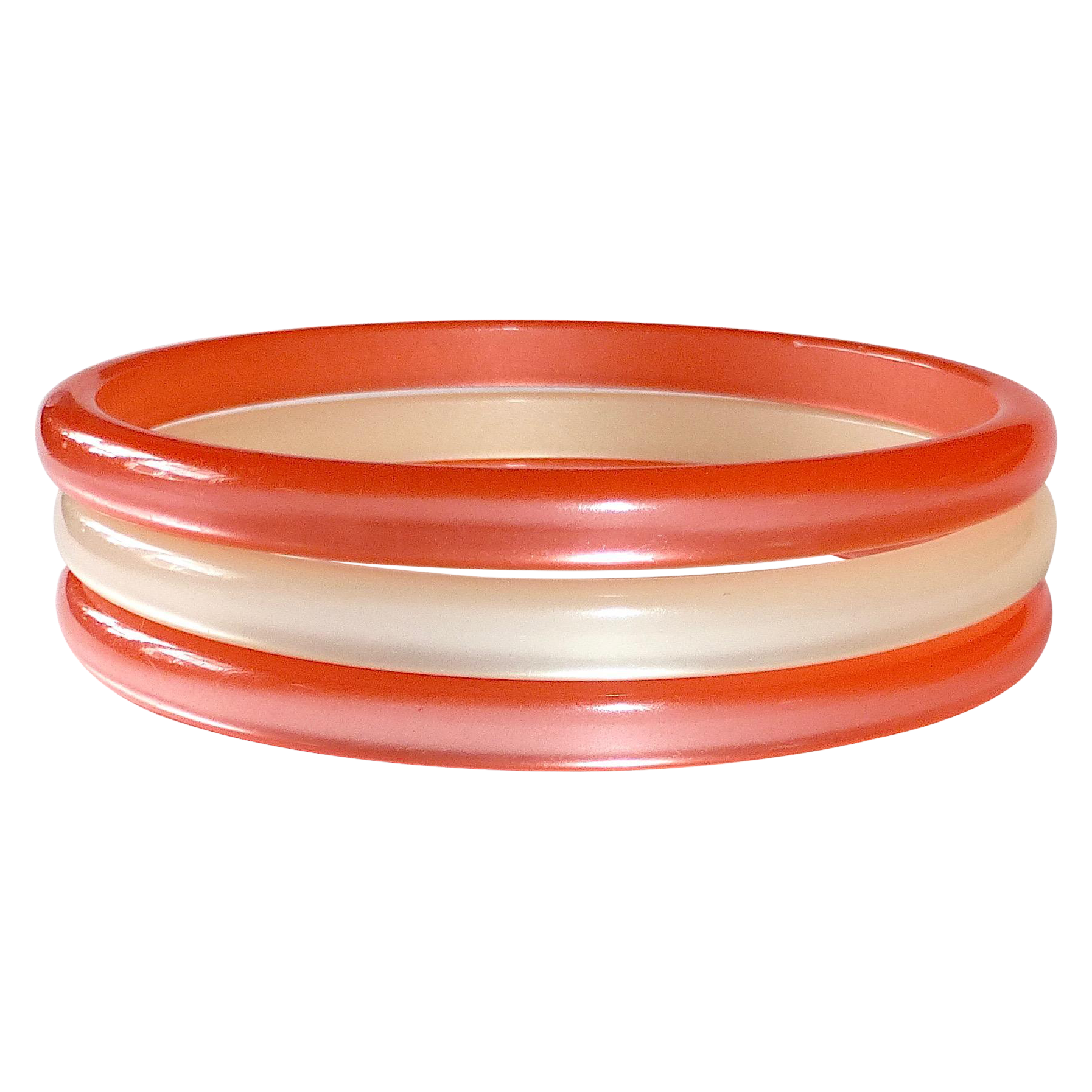Luminous 1960s Moonglow 'Creamsicle' Bangles