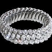 Sparkling Rhinestone 3 Row Stretch Bracelet