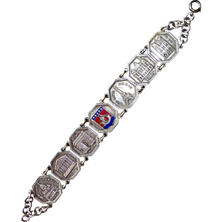 Paris France Souvenir Bracelet w Historic Landmarks